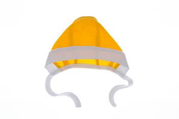Чепчик на завязках интерлок желтый 56 р.