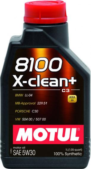 Моторное масло Motul 8100 X-Clean+ 5W-30 1 л