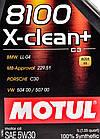 Моторное масло Motul 8100 X-Clean+ 5W-30 1 л, фото 3