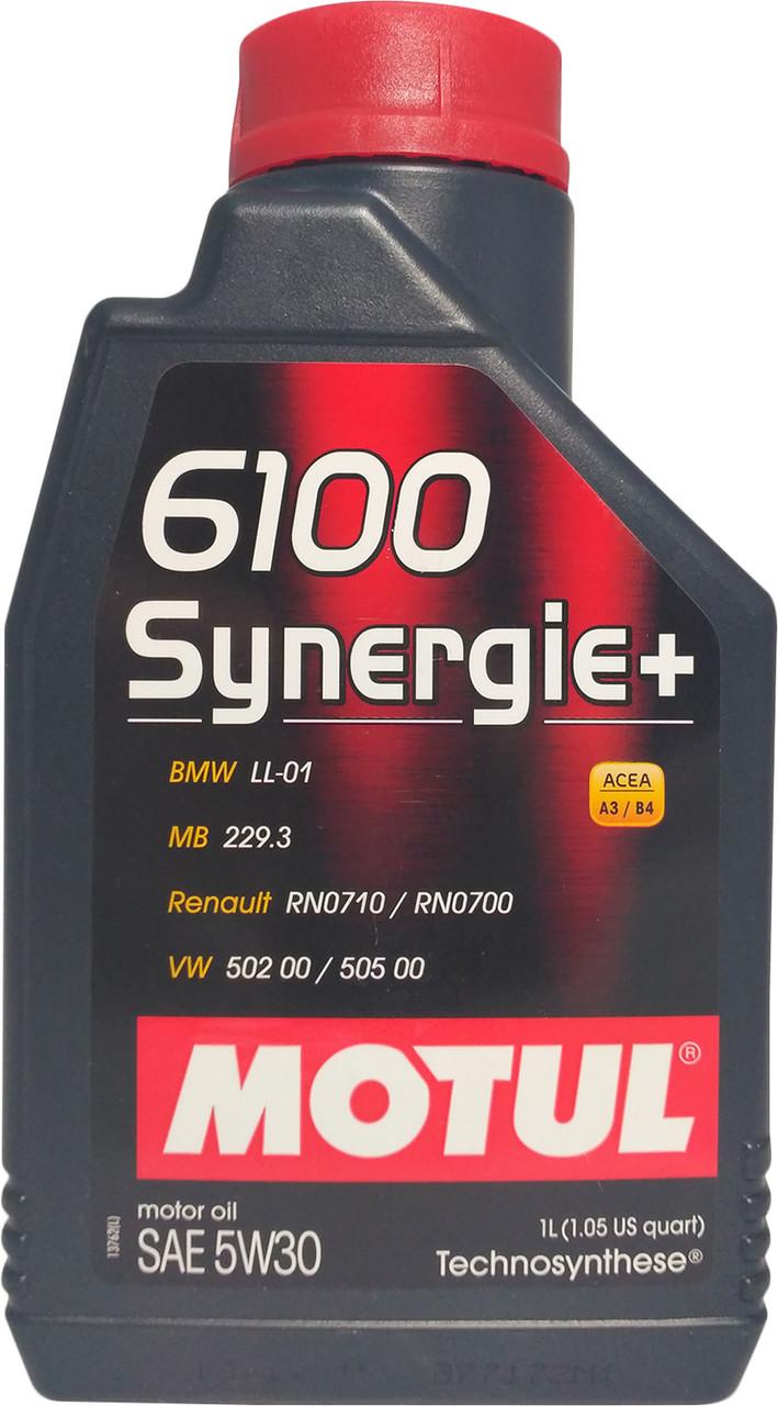 Моторное масло Motul 6100 Synergie+ 5W-30 1 л