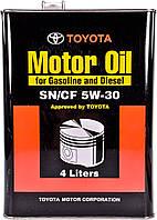 Моторное масло Toyota / Lexus / Daihatsu Motor Oil SN/CF 5W-30 4 л