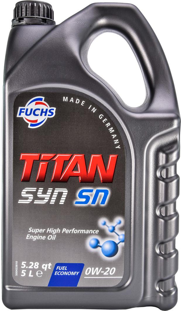Моторна олива TITAN SYN SN SAE 0W-20 5л.