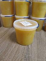 "Мёд ""Разнотравье + Подсолнух"" 1,0 л., 100% натуральный мёд / Мед ""Різнотрав`я + Соняшник"" 1,0 л., 100 % мед"