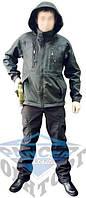 Куртка тактическая черная Soft shell под пистолет Pancer