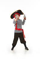 Детский карнавальный костюм для мальчика «Пиратик» 110-120 см, черно-белый, фото 1
