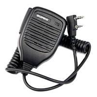 Тангента, микрофон, манипулятор для рации BAOFENG KENWOOD HYT WOUXUN TG-02 (FD3842)