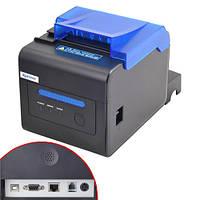 Термопринтер POS чековый принтер со звонком USB+LAN XP-C300H 58/80мм (FD3895)