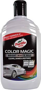 Кольоровий поліроль для кузова білий Turtle Wax Color Magic Bright Wax 500 мл