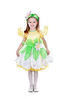 Детский карнавальный костюм для девочки «Ромашка» 100-110 см, 115-125 см, белый, фото 1