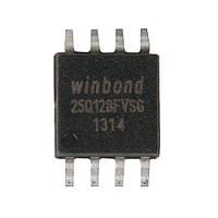 Чип W25Q128 25Q128FVSG SOP8, 128Мб Flash SPI (FD4369)