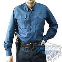 Рубашка милитари Police синяя Pancer