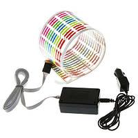 Эквалайзер на стекло авто, светомузыка, 45х11 см (FD4471)