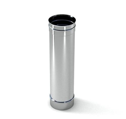 Труба ф 400 1 м 0.5 мм нержавіюча сталь