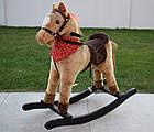 Лошадка качалка, конь качалка, лошадь качалка коник гойдалка с музыкой, фото 2