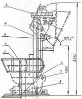 Дежеопрокидыватель А2-ХП-2Д2 для дежи 330 л