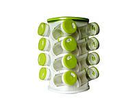 Набор для хранения специй Spice Rack Прозрачно-салатовый (2360)