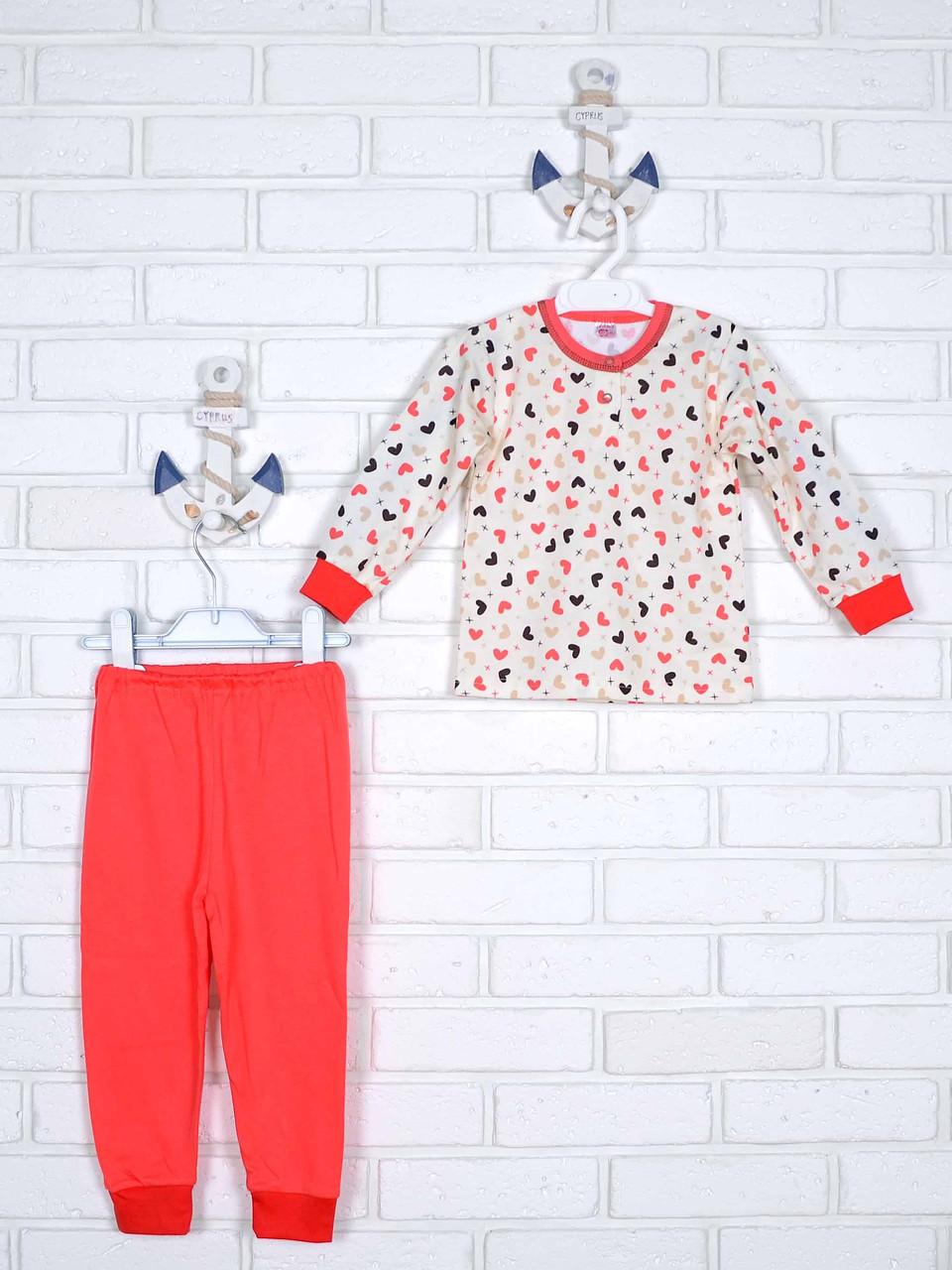 Пижама сердечки 80-86