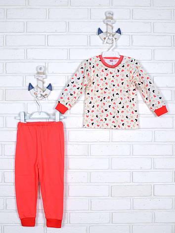 Пижама сердечки 80-86, фото 2