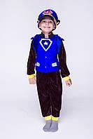 """Детский карнавальный костюм для мальчика Чейз с рюкзаком """"Щенячий патруль"""" 100-115 см, 115-125 см, коричневый"""