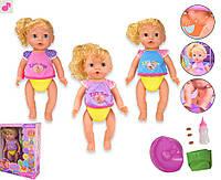 Кукла XMY8079 2 вида, с ароматом, МУЗ звуки, свет, ходит в туалет (спец капсуслы), горшок