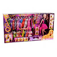 "Кукла типа ""Б"" 68032  набор платьев,аксессуары, в кор.60*11*33 см"