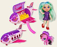"""Кукла """"Н"""" TM254 самолет, питомцы, аксессуары, в кор.39,5*16*22,5см"""