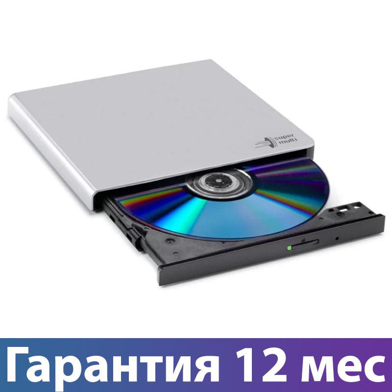 Внешний дисковод для ноутбука LG GP57ES40, Silver, DVD+/-RW, USB 2.0, переносной оптический привод