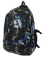 Рюкзак школьный VA R-71-130 Черный с абстрактным принтом (009205)