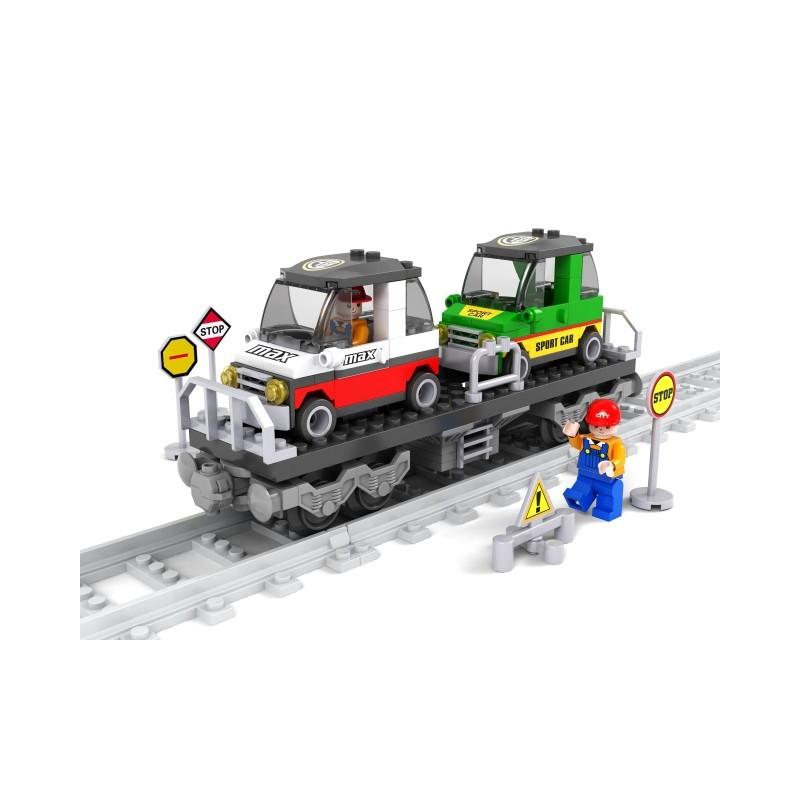 Конструктор AUSINI 25412 Вагон для перевозки машин, 186 деталей