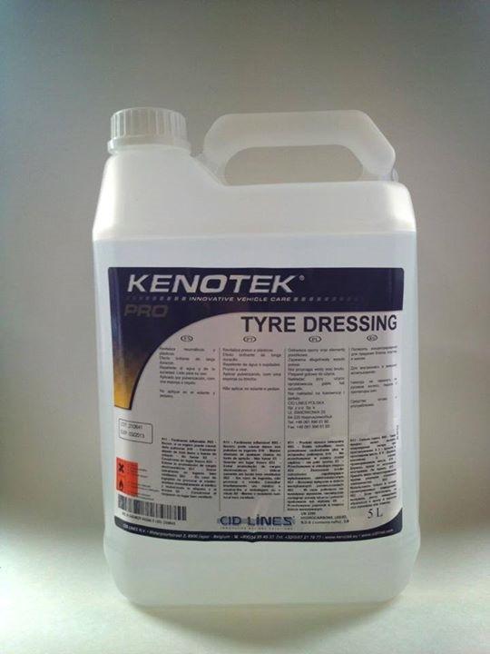 Чернение резины Kenotek Tyre Dressing, 5л на основе растворителей