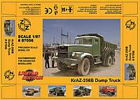 Сборная модель Excluzive Modell KrAZ-256B Dump Truck 87056 1:87