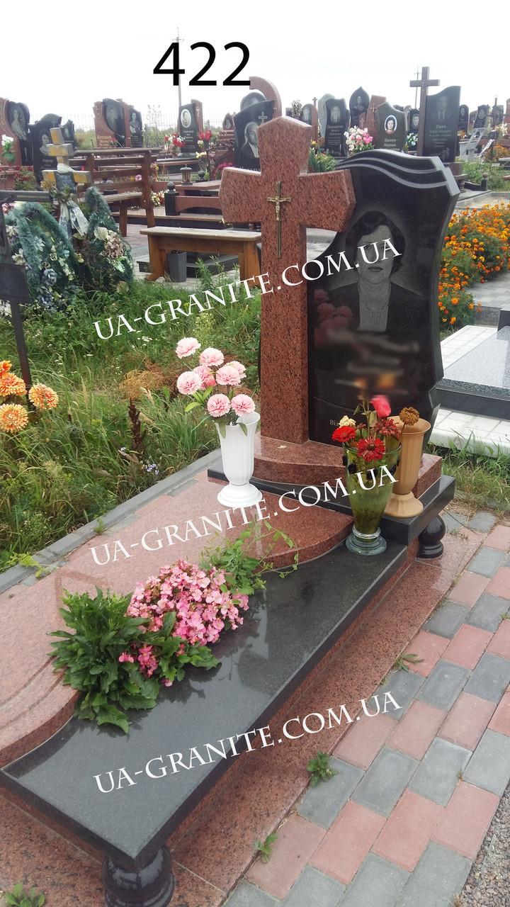 Пам'ятники із хрестом на могилу для мами із граніту