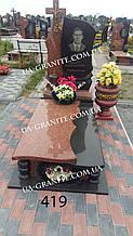 Елітні памятники на могилу із червоним хрестом