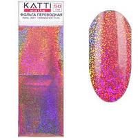 KATTi фольга переводная 59407 голографика мелкий песок бежево розовая 4х50см