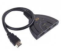 Свитч-коммутатор HDMI 4K переключатель для монитора (HDMI-4K-3IN1)