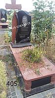 Пам'ятники з хрестом із червоного граніту