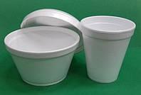 Набір одноразового посуду із спіненого полістиролу «Миска з кришкою та стаканом» оптом