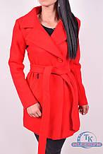 Пальто женское  демисезонное  (цв. ярко-красный) ROMATIC 801 Размер:44,46