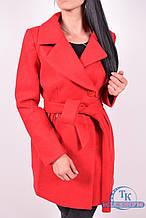 Пальто женское  демисезонное (цв.красный) ROMATIC 801 Размер:42,44,48
