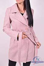 Пальто женское  демисезонное (цв.пудры) ROMATIC 801 Размер:50