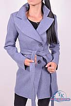 Пальто женское  демисезонное (цв.синий) ROMATIC 802 Размер:48