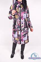 Пальто женское демисезонное (цв.бордовый) Buza Мэри Размер:44,46,48,50,52