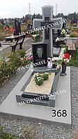 Памятники красиві хрест із сірого граніту на могилу каталог