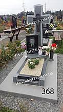 Пам'ятники красиві хрест із сірого граніту на могилу каталог