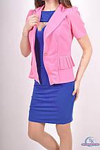 Пиджак женский (сетка с гипюром) цв.розовый 8826 Размер:46