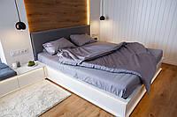 """Комплект постельного белья """"Светло-серый"""" Евроразмер"""