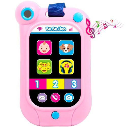 Интерактивный смартфон (розовый), BeBeLino  58159