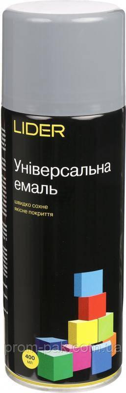 Аэрозольная краска  LIDER серая 7046 400