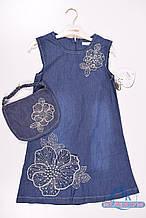 Платье для девочки котоновое  MOONSTAR 260519 Рост:128