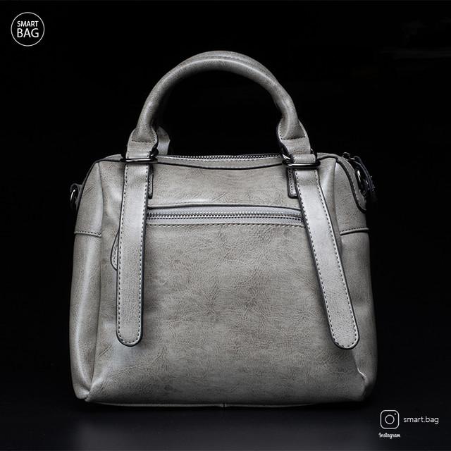 Женская кожаная сумка | серая